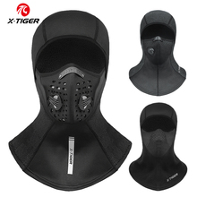 X TIGER Winter Ski Mask Cycling Mask Anti Dust Cycling Mask with Filter Windproof Full Face Cover Balaclava Skiing Skating Hat
