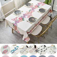 Nordic-Table-Cover Printed Butterfly Wedding Party Pvc Plastic Oilproof Hotel