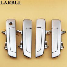 LARBLL 4 Cái/bộ Xe Hơi Tự Động Chrome Bên Ngoài Cửa Tay Cầm Cho Mitsubishi Pajero IO PININ Cheetah H77