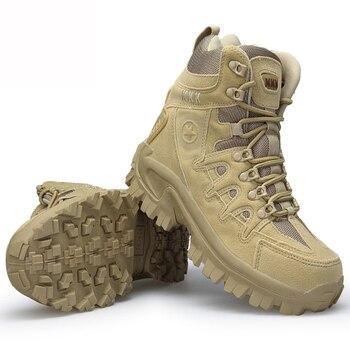 Botas militares aterciopeladas para hombre, zapatos de combate táctico, delta coturnos, masculino, 40 a 46, novedad de 2019