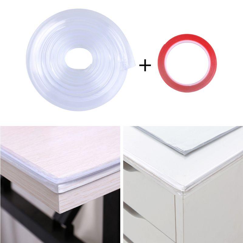 1M Infant Baby Safety Corner Protection Strip Guards 1m Transparent Table Edge Furniture Corner Protectors Soft PVC Bumper