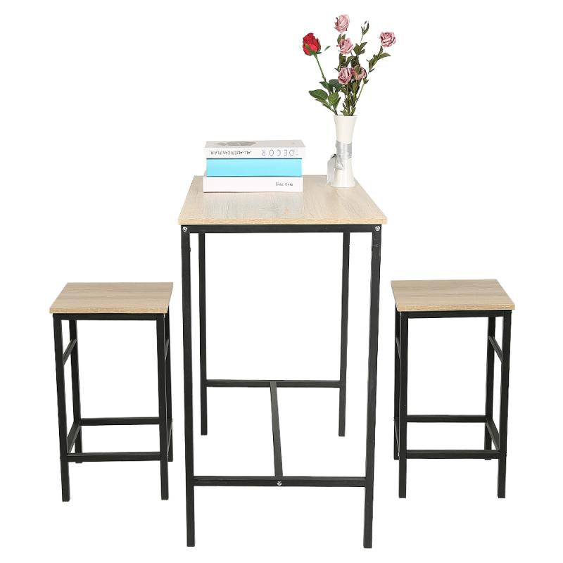 Bar Table Chairs Set Bar Furniture Original Wood Color Industrial Style Bar Table Chairs Living Room Table Kitchen Dining Table