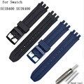 Uhr zubehör pin schnalle Für Swatch SUIB400 SUIK400 serie 18mm silikon armband männer und frauen sport wasserdichte gummi strap