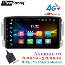 SilverStrong, 8-дюймовый IPS,Android10,GPS автомагнитола, для Mercedes Benz,CLK W209 W203 W208 W463,Vaneo,Viano,Vito Navi TPMS CarPlay