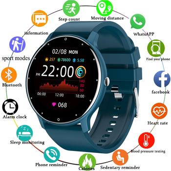 LIGE 2021 moda inteligentny zegarek panie tętno ciśnienie krwi wielofunkcyjny zegarek sportowy mężczyźni kobieta wodoodporny Smartwatch kobiet tanie i dobre opinie CN (pochodzenie) Android Na nadgarstek Zgodna ze wszystkimi 128 MB Krokomierz Rejestrator snu Wiadomości z przypomnieniami