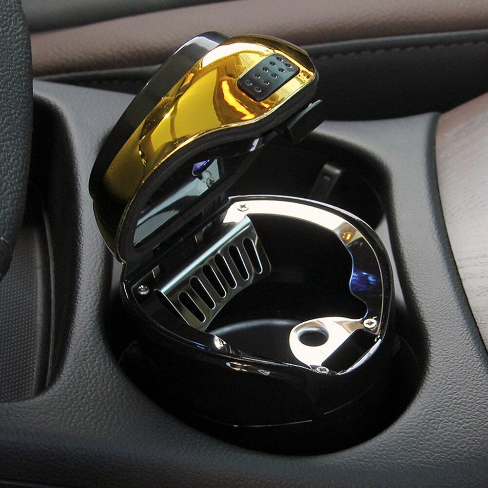 Car Auto Travel Solar Power LED Light Smoking Ash Holder Cup Ashtray