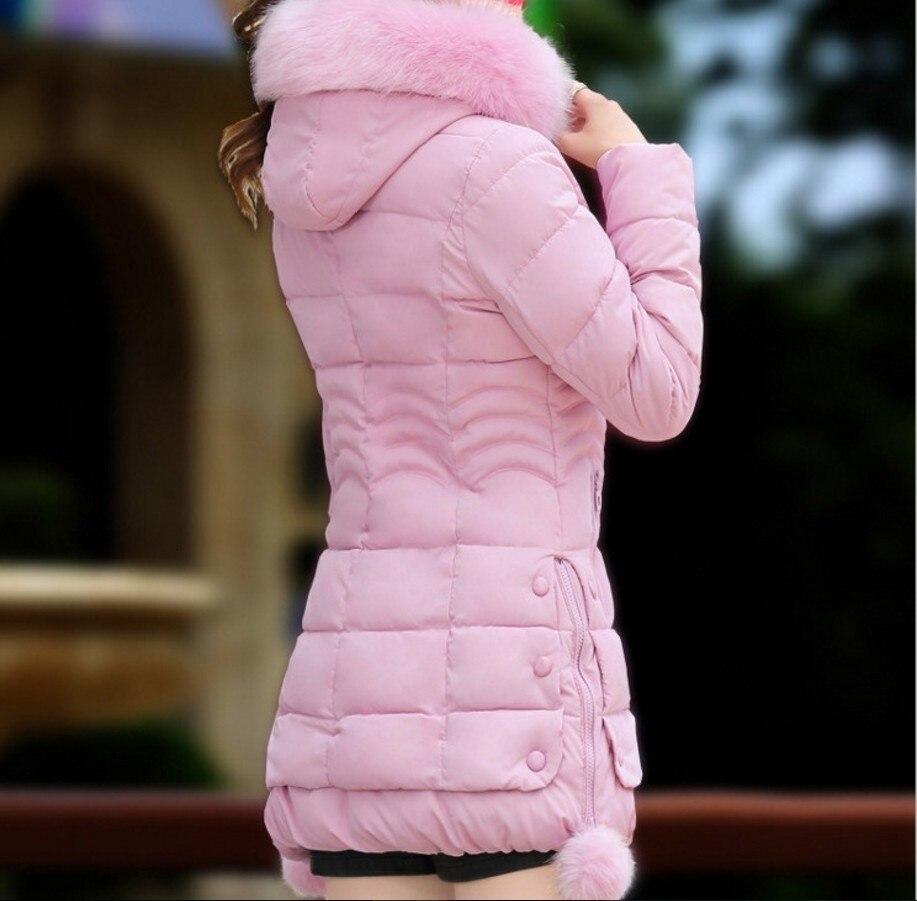 Image 5 - RICORIT Winter Jacket Women Fur Hooded Thicken Coat Woman Parka  Jackets Female Cotton Padded Faux Fur Long Plus Size OuterwearParkas