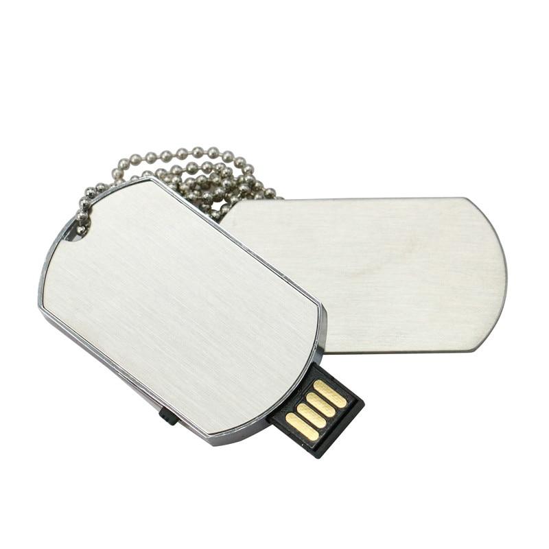 Necklace Military Tag Shape USB Flash Drive PenDrive Memory Stick Disk Pen Drive 4GB 8GB 16GB 32GB Funny U Disk Flash Man Gift