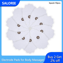 10pcs Tens Pad Electrode Pads for Slimming Body Massager Tens Acupuncture Therapy Machine Back Neck Massage Muscle Stimulator