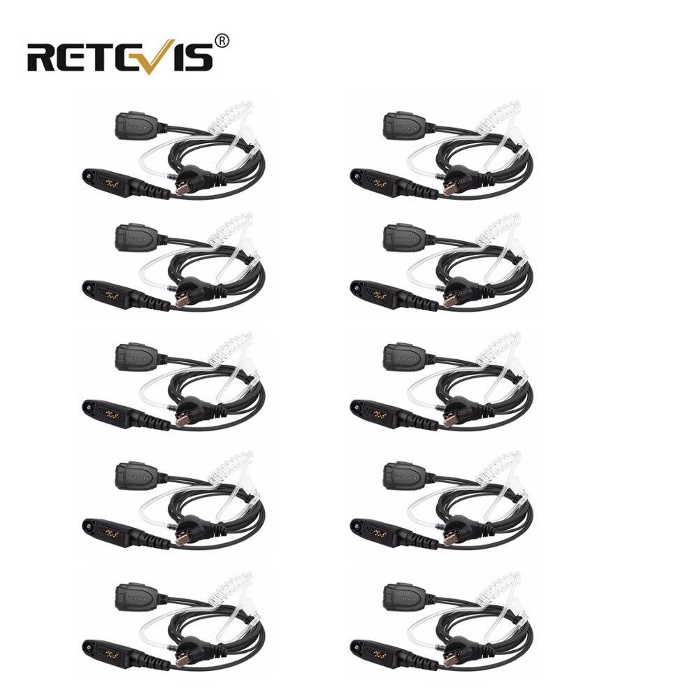 10pcs Retevis Air Acoustic Tube  Earpiece Walkie Talkie Headset For Motorola GP328PLUS GP388 For Retevis RT82/RT87/RT83 J9127E
