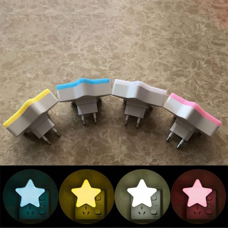 Pentastar Led Night Light Mini Star LED Night Light With EU Plug For Dark Night Baby Sleeping Light Bedside Lamps