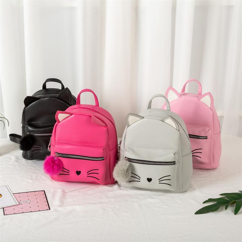 Children Bags for girls School Cartoon Small Cat Baby Girl Backpack Cute