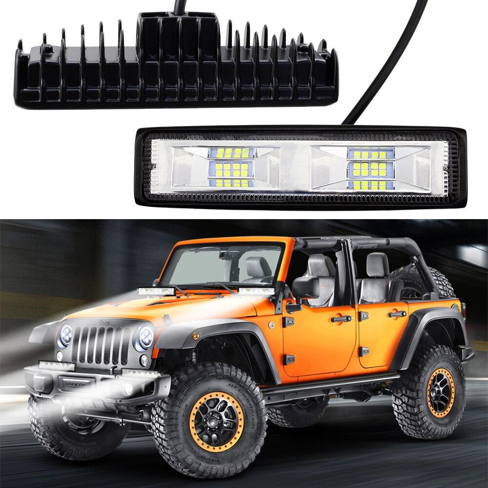 1 sztuk IP67 wodoodporna 48 W 16 LED 6000k światło pracy na motocykl jazdy Offroad łódź samochód ciągnik siodłowy 4x4 SUV ATV 12 V