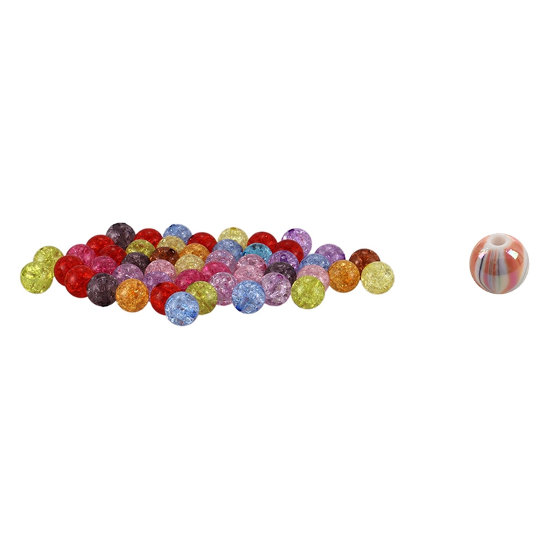 """3//8/"""" 300 Mixed Round Faceted Acrylic Spacer Beads 8mm Dia."""