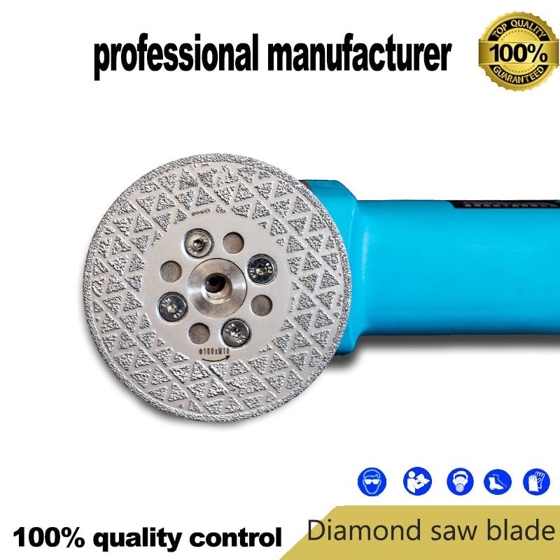 Disco diamantato brasato a vuoto da 100 mm con bandiera M10 per la rettifica di materiale fotovoltaico ad alta precisione a buon prezzo e consegna rapida