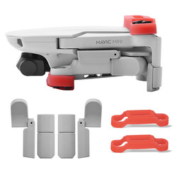For DJI Mavic Mini Drone Accessories Extended Landing Gear Leg Support Protector Extension & Propeller Bracket