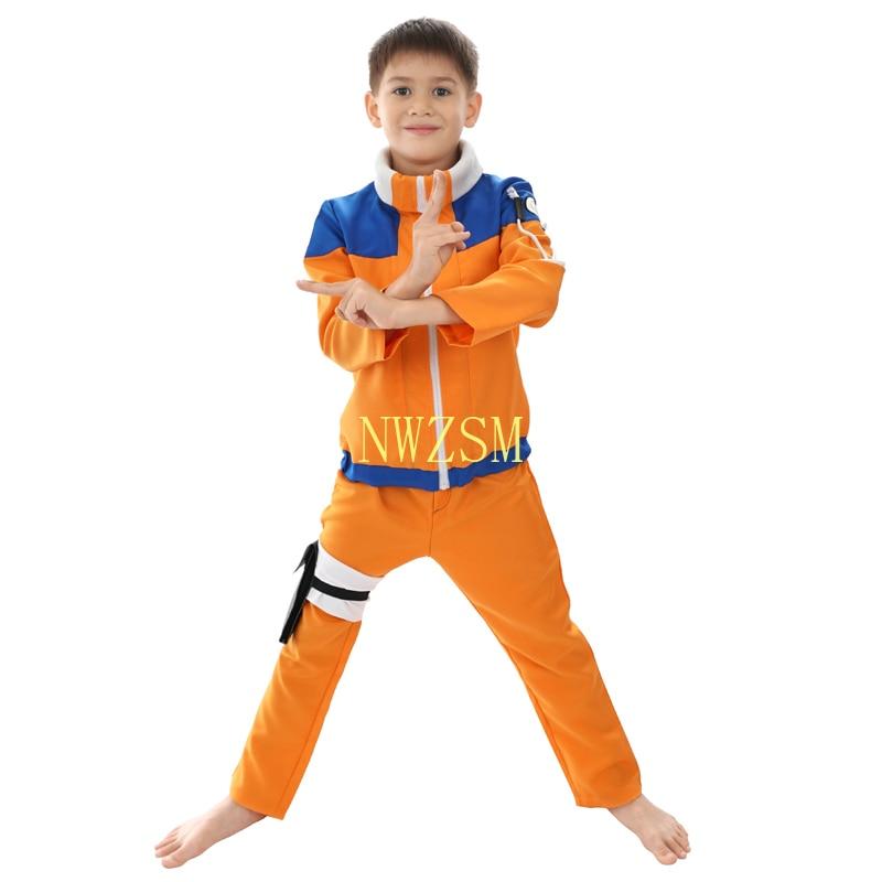 Calssic Anime Cosplay Naruto disfraces Cosplay de niños menores Uzumaki Naruto niños tamaño europeo envío gratis
