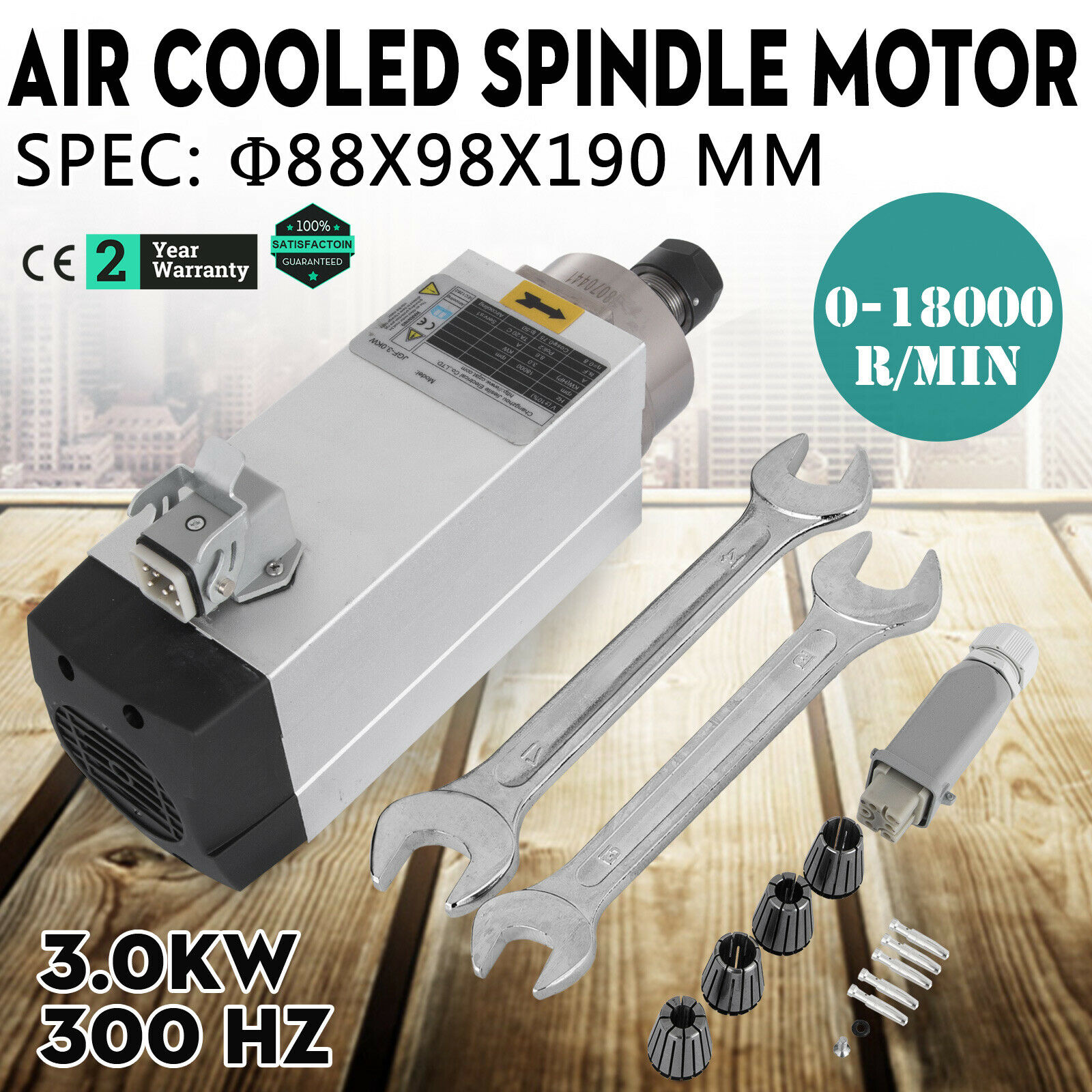 Free shipping for RU 3 KW AIR COOLED MILLING MOTOR AIR COOLED ENGRAVING HIGH SPEED SPINDLE MOTOR