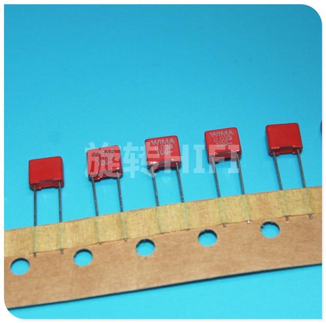 10PCS Taping package NEW RED WIMA MKS2 33NF 100V P5MM 0.033UF 333/100V Audio 333 mks 2 33n 0.033u/100v