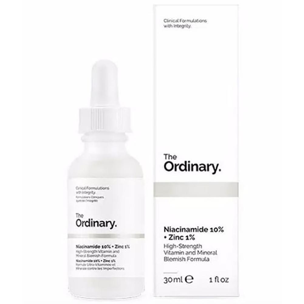 High-Strength Ordinary Niacinamide 10% + Zinc 1% 30ML Face Serum Oil Balance Reduce Skin Blemishes Whitening Moisturizer