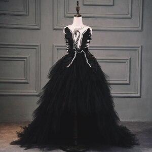Бальное платье со шлейфом, бальное платье из тюля с лебедем и кристаллами, платье для причастия, платье для дня рождения, платье с бисером и ц...
