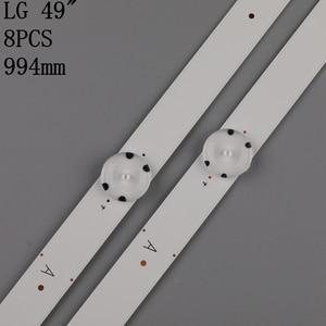 Image 3 - New 8 PCS LED backlight strip for LG 49UH610A 49UH6100 49lf5100 49UH6030 49UF640V 49UF6407 LGE_WICOP_49inch_UHD/FHD_REV05_A B
