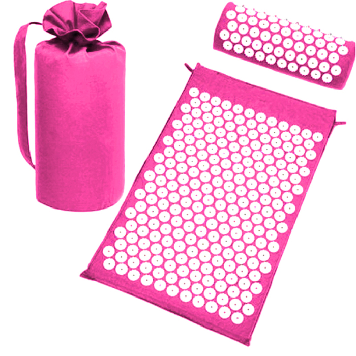 SEC88 Acupressure Massage Mat with Pillow set for Stress Pain and Tension Relief 32
