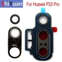Задняя камера объектив стеклянная крышка для Huawei Р20 про P20Pro с металлическим каркасом держатель замена запчасти