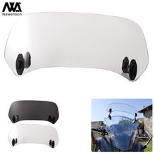 Universal Motorcycle Windscreen Extension Plastic Spoiler Add-On Air deflector Adjustable Aerofoil 2 colors