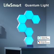 مصباح LED من lifemart للهندسة الذكية بمصباح LED يعمل بالواي فاي ومساعد جوجل تطبيق Alexa Cololight التحكم الذكي