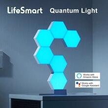 LifeSmart LED QUANTUM สมาร์ทเรขาคณิตประกอบ DIY WiFi ทำงานร่วมกับ Google Assistant Alexa Cololight APP ควบคุมสมาร์ท