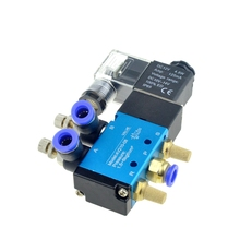 Pneumatic Flow Adjust Solenoid Valve 5Way 2 Position Air Gas Magnetic Valve 12V 24V 110V 220 Coil Volt 8mm Hose Quick Connection