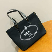 2021 Fashion Luxury Women's Tote Shopping Shoulder Bag New Fashion Canvas Brand Crocodile Large Handbag Multi Color Selection