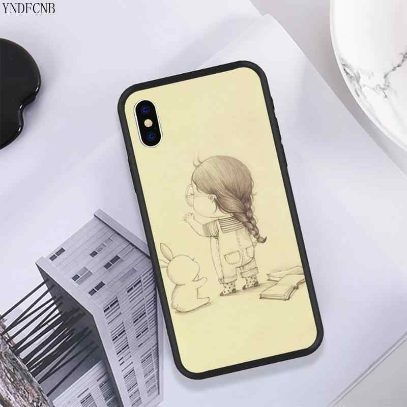 YNDFCNB irl и ее Кролик чехол для телефона iPhone 11 pro XS MAX 8 7 6 6S Plus X 5 5S SE XR Мягкий ТПУ чехол