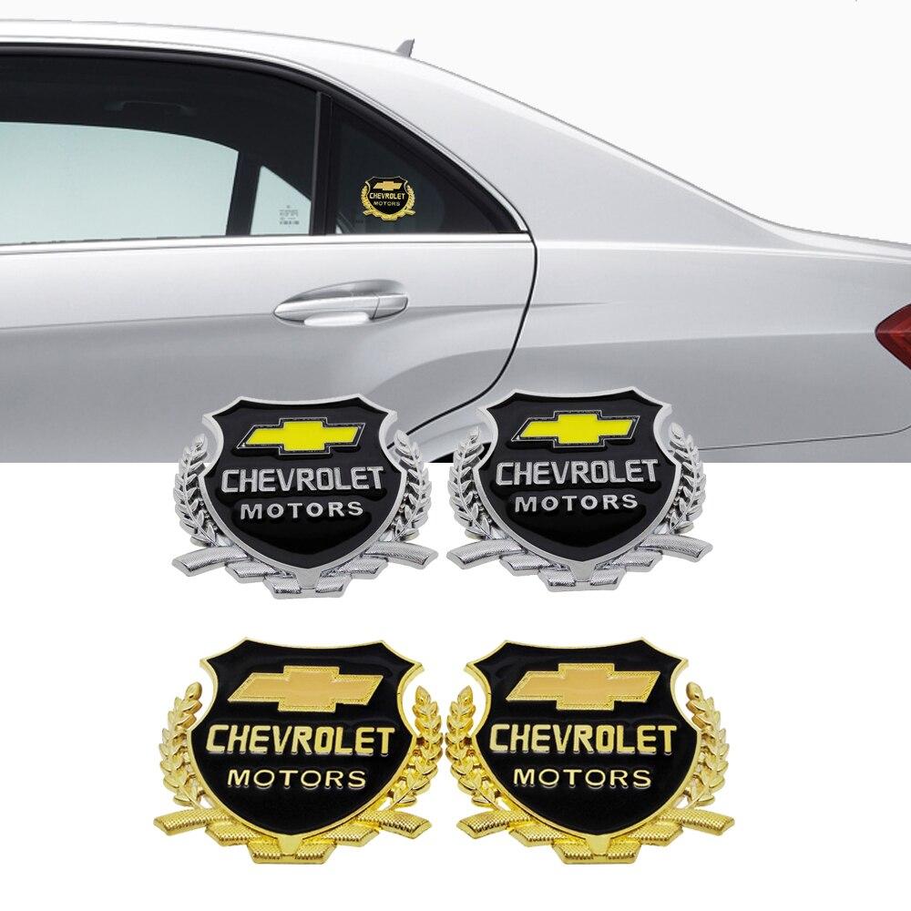 2pcs LSX Emblem Car ABS Body Badge Rear Sticker for Chevy Camaro Cadillac Pontia