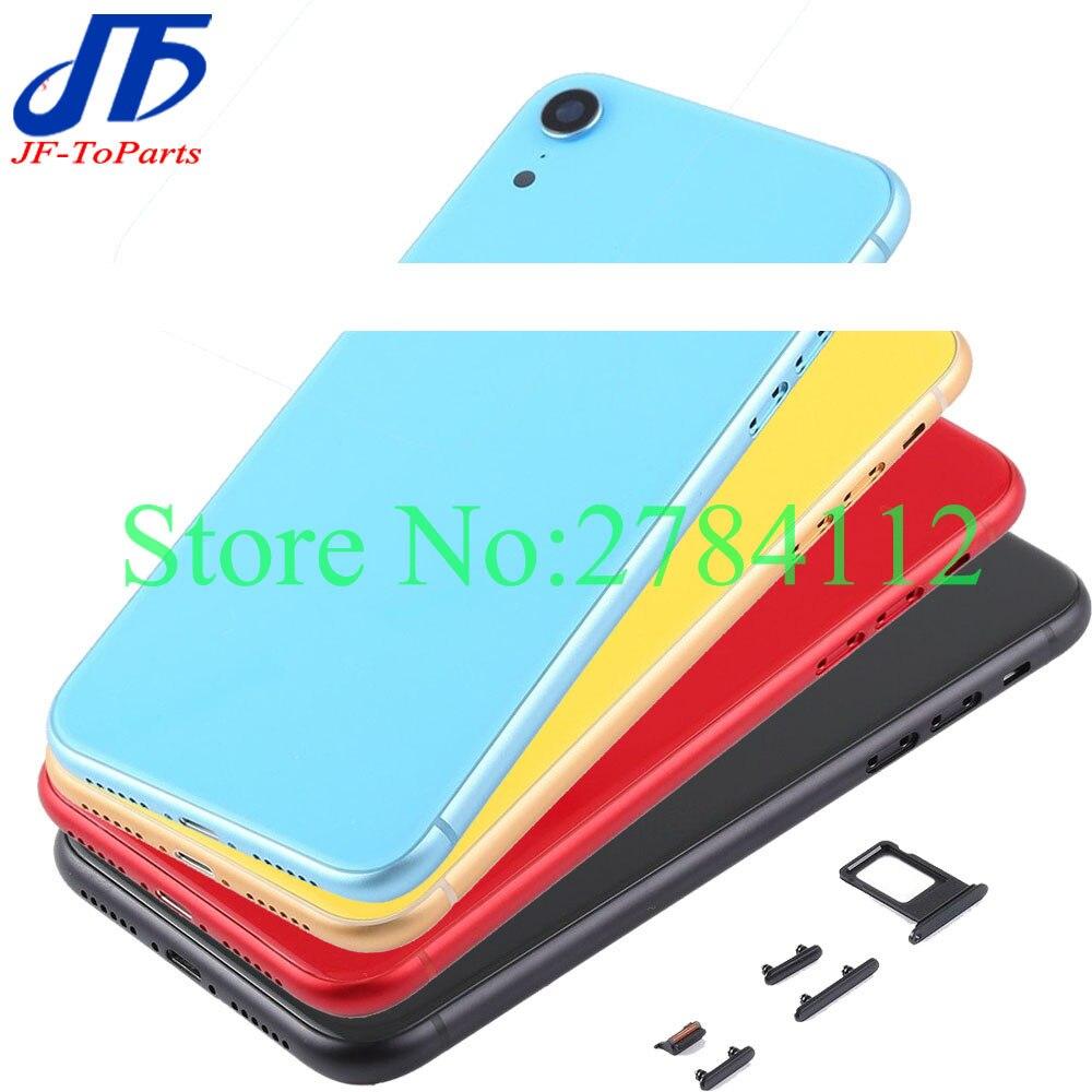 最高品質 iphone xr/xs 最大/x xsm バックガラスミドルフレームシャーシフルハウジングアセンブリカバードア    グループ上の 携帯電話