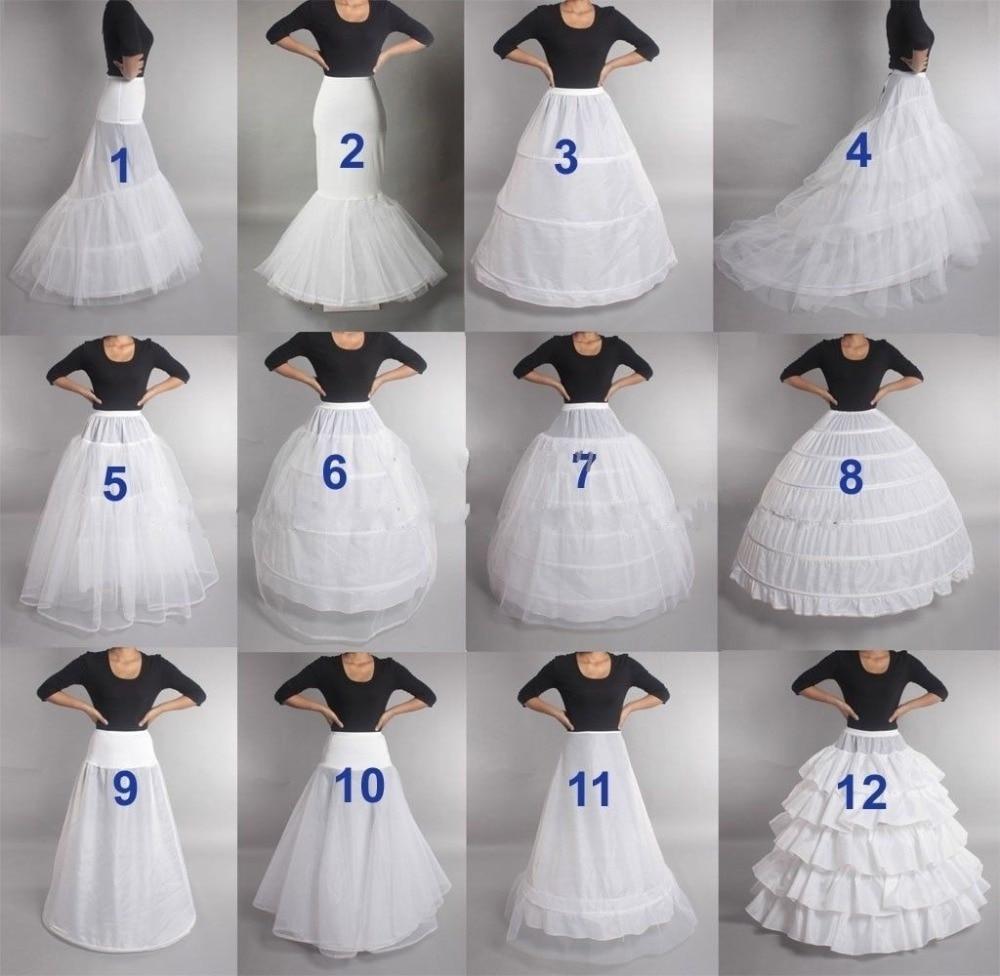 2019 New Hot Sell Many Styles Bridal Wedding Petticoat Hoop Crinoline Prom Underskirt Fancy Skirt Slip In Stock