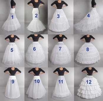 2019 New Hot Sell Many Styles Bridal Wedding Petticoat Hoop Crinoline Prom Underskirt Fancy Skirt Slip In Stock