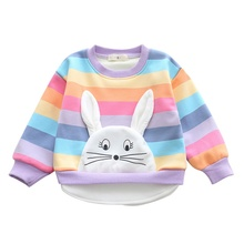 цена на Girls Autumn Winter Cotton T shirt Cartoon Long Sleeve Baby Girls Tees Kids Children Casual Clothing O-Neck Clothes