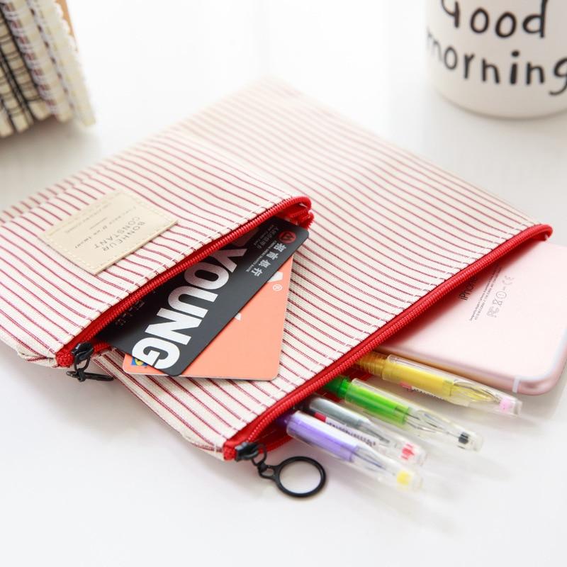 South Korea Cute Fabric Zero Young STUDENT'S Women's Creative Sail Mini Wallet Pencil Case Small Pastoral Style Coin Bag Zipper