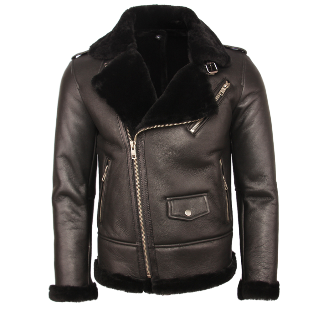 H39e3b11f621a4ae3ae6d91f7b1f8a6cb8 100% Natural Shearling Coat Men Thick Fur Coat Winter Mens Leather Coat Warm Winter Clothing Size 4XL Free Shipping M362
