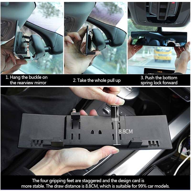Image 4 - Car Mirror Interior Rearview Mirrors Universal Auto Rear View Mirror Anti glare Wide angle Surface Blue Mirror Auto AccessoriesInterior Mirrors   -