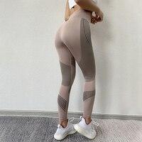 Sexy New Gym Yoga Pants Sports Wear For Women Tummy Control High Waist Leggins Sport Tights Fitness Seamless Leggings Sportswear