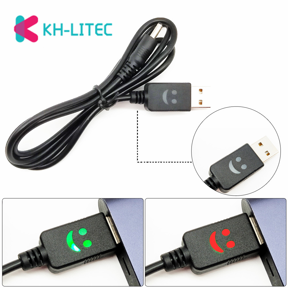 KHLITEC Portable 1m 3ft Smiling Face 4.2V Headlamp USB Charger Cord Headlight USB Wall Charging Cable Smile Face Flashlight Line|Headlamps|Lights & Lighting - title=