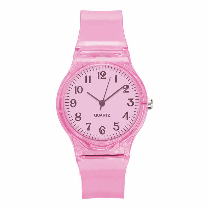 Hohe Qualität Kristall Uhr Cartoon Neuheit Transparent Silikon Strap Klassische Elektronische Uhr für Student Frauen Armbanduhr