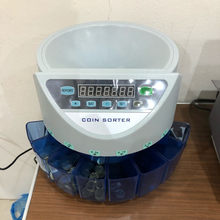 Electronic coin sorter coin counter counting machine custom made for countries display the total value and quantity(China)