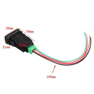 Image 5 - 12V Car LED Push Switch 5 Pin On/Off Button White LED Light w/Connector Wire For Toyota Prado HiAce/Hilux Landcruiser