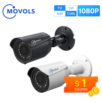 MOVOLS 1080P CCTV Camera 2MP HD Indoor Outdoor Waterproof Analog Sony Sensor Bullet IR AHD / TVI CVI/CVBS Surveillance - discount item  25% OFF Video Surveillance