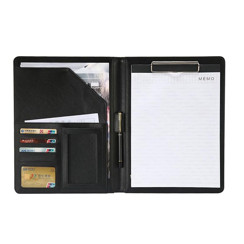 A4 Multifunctional Pu Leather Folder Business Document Case Box Protective With Storage Briefcase Document Note Pad Storage G5P5