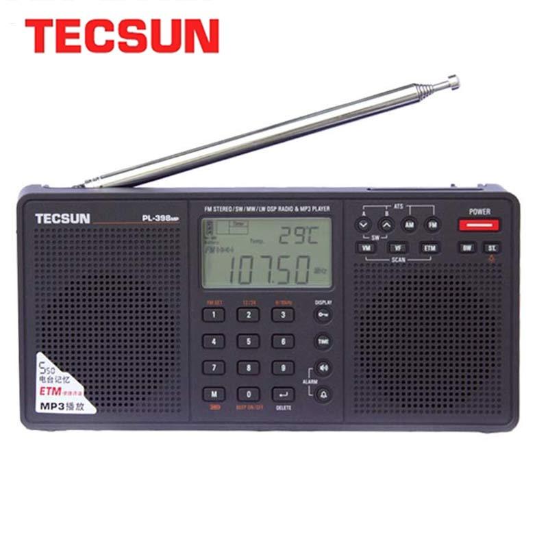 Tecsun PL 398MP ステレオラジオ portatil am fm フルバンドデジタルチューニングと etm ats dsp デュアルスピーカー受信機 MP3 プレーヤー -